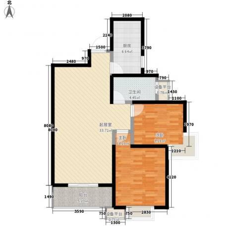 世融嘉城2室0厅1卫1厨105.00㎡户型图