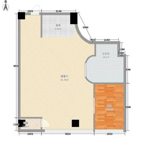 上置美兰优湖1室1厅1卫0厨115.00㎡户型图