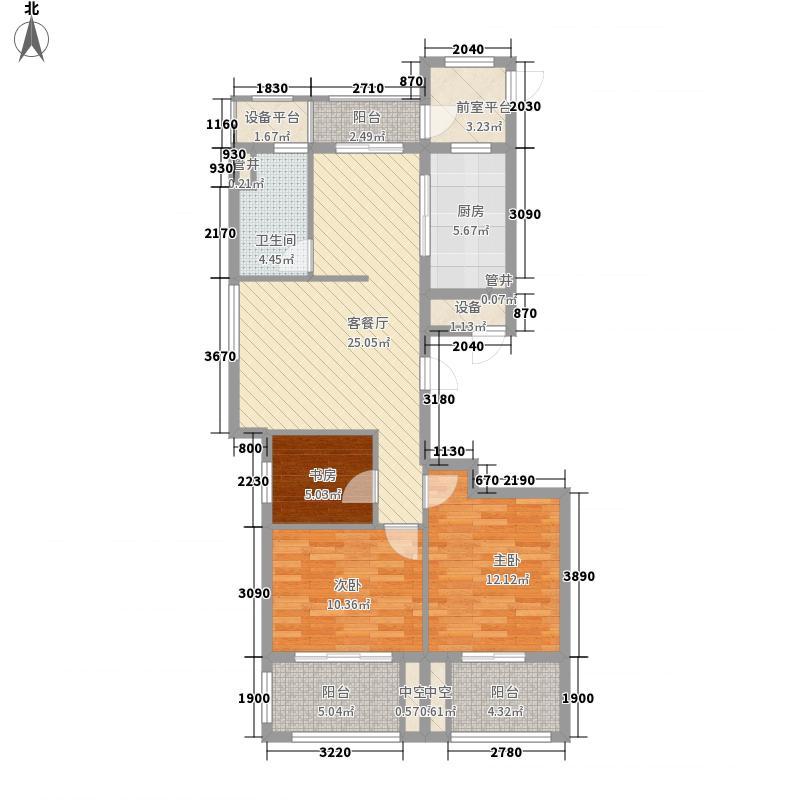 宋都阳光国际户型图A1-3户型 3室2厅1卫1厨