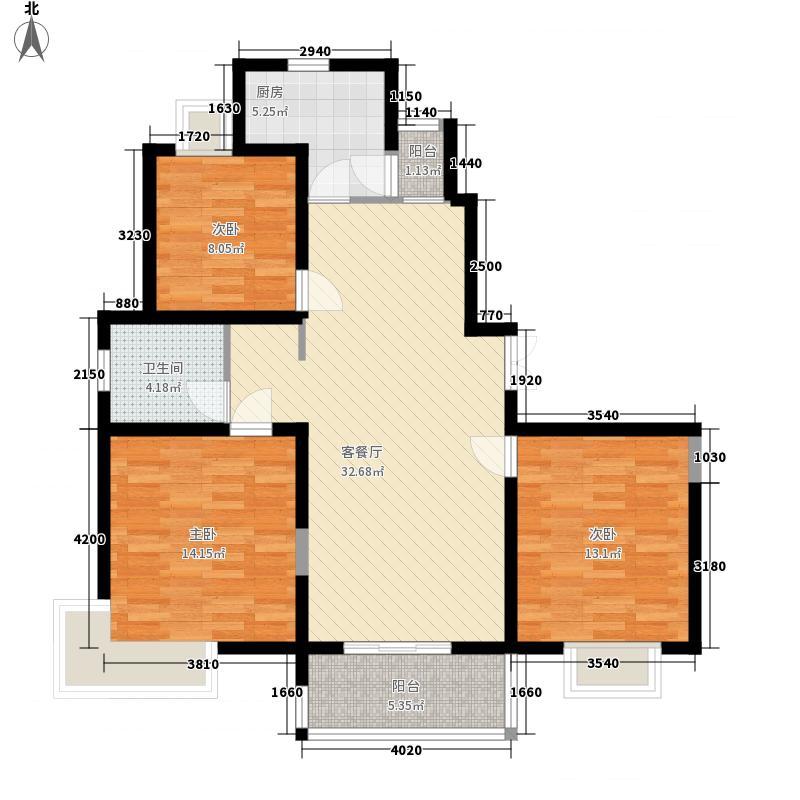摩卡小城121.80㎡5#3房户型3室2厅2卫1厨