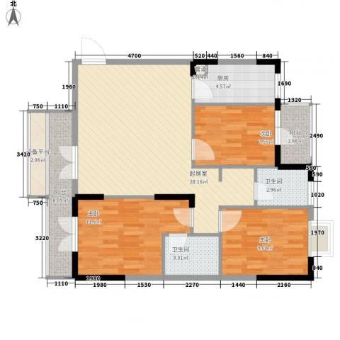 中御公馆3室0厅2卫1厨111.00㎡户型图