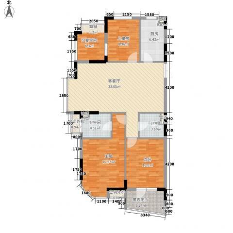 星辰花园3室1厅2卫1厨139.00㎡户型图