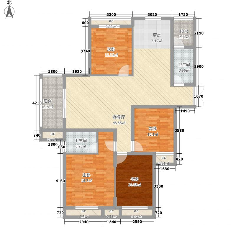 尚格名城香堤漫步142.76㎡5#-C户型4室2厅2卫1厨