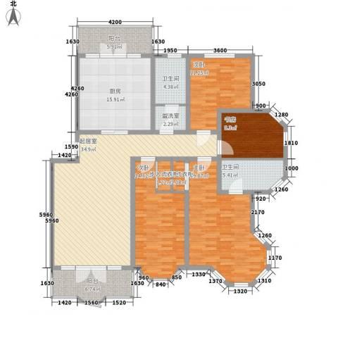 欧美亚世界阳光4室0厅2卫1厨131.57㎡户型图