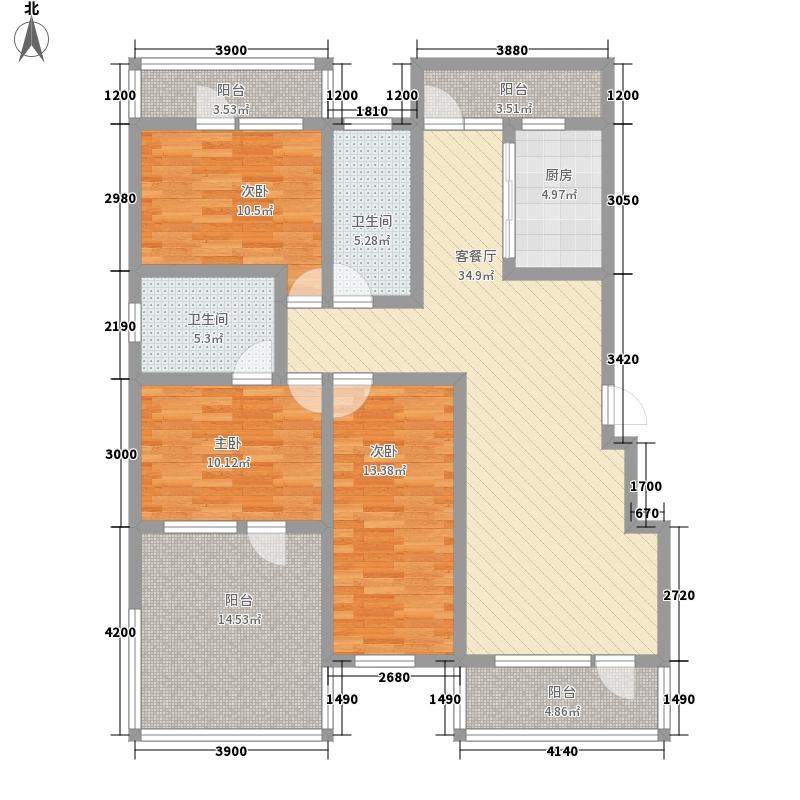 香榭丽舍112.00㎡洋房5F户型3室2厅2卫
