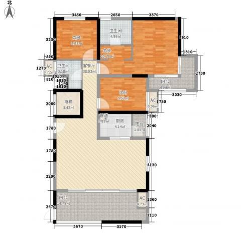 天隆・三千海3室1厅2卫1厨169.00㎡户型图