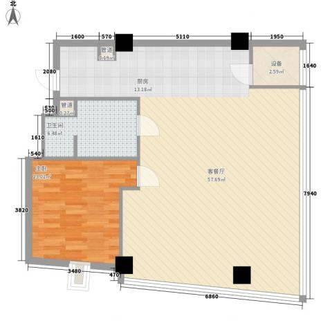 上置美兰优湖1室1厅1卫0厨110.00㎡户型图