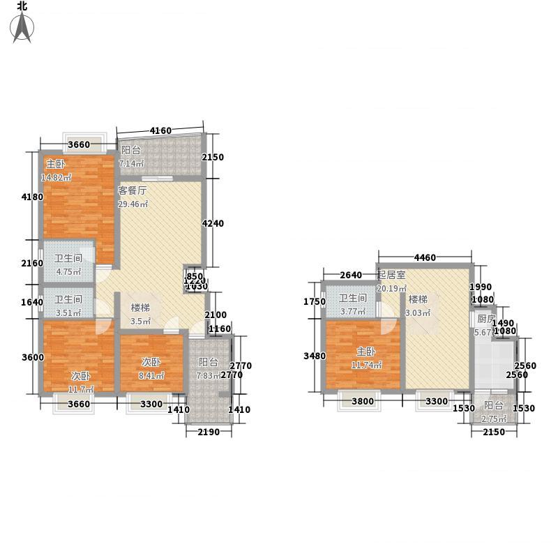 十里江南B2户型4室3厅3卫2厨