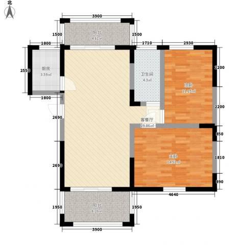 伊比亚河畔2室1厅1卫1厨85.76㎡户型图