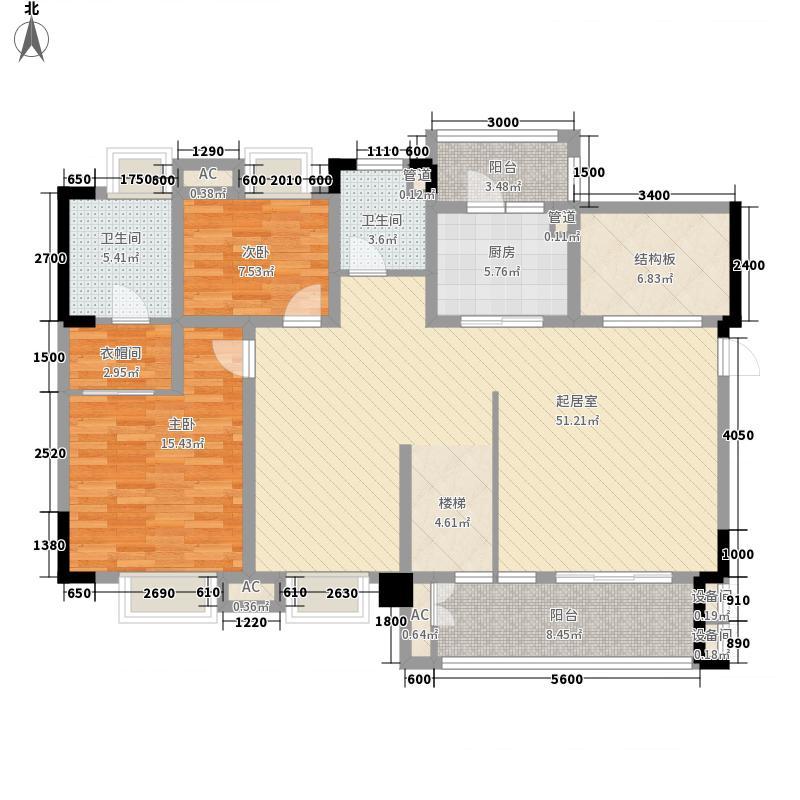 远大美域215.00㎡13栋BC跃层户型5室2厅3卫1厨
