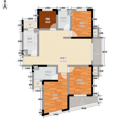 水晶城4室1厅2卫1厨112.00㎡户型图