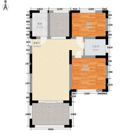 伊比亚河畔2室1厅1卫1厨75.22㎡户型图