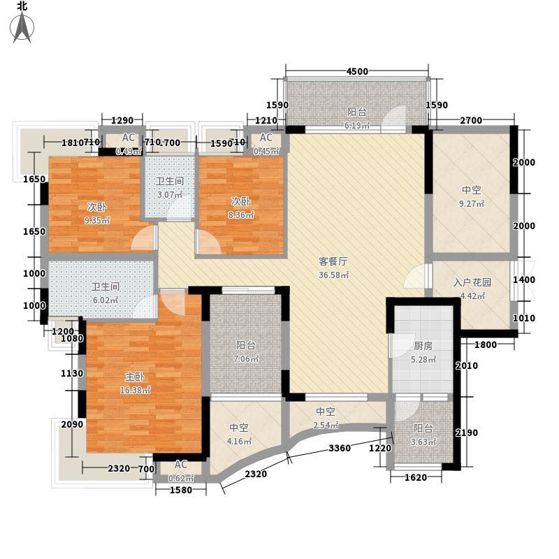 鼎峰品筑二期130.00㎡鼎峰品筑二期户型图9座标准层A1、B1户型图3室户型3室