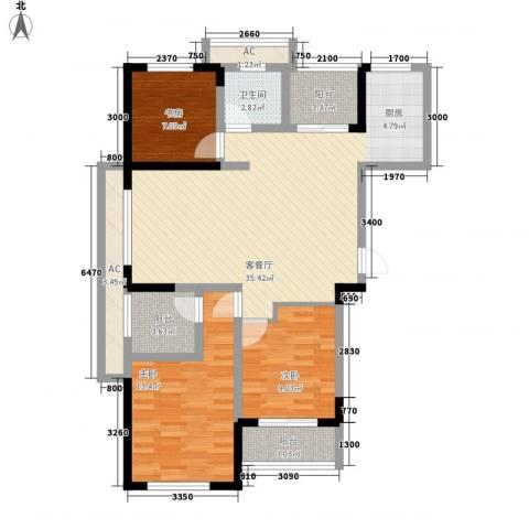 水晶城3室1厅1卫0厨97.78㎡户型图