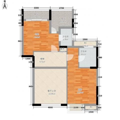 御峰园2室0厅2卫0厨262.00㎡户型图