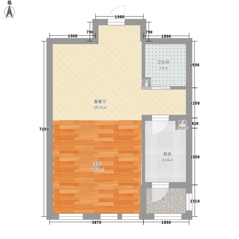 东方国际城54.25㎡东方国际城户型图6C户型1室1厅1卫1厨户型1室1厅1卫1厨