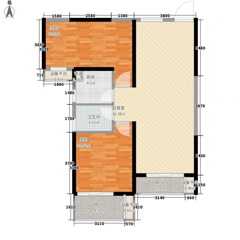 御龙湾7.00㎡C2户型2室2厅1卫1厨