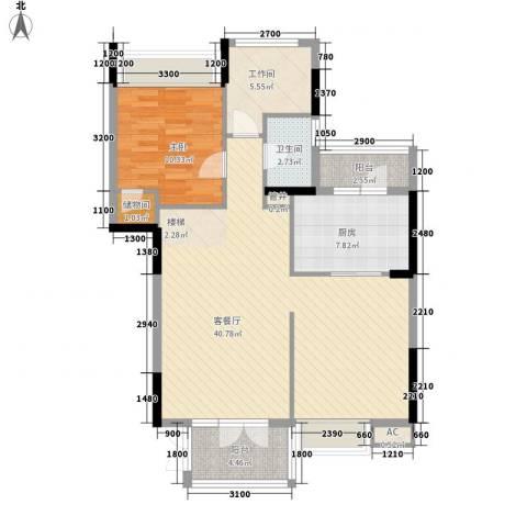 御峰园1室1厅1卫1厨262.00㎡户型图
