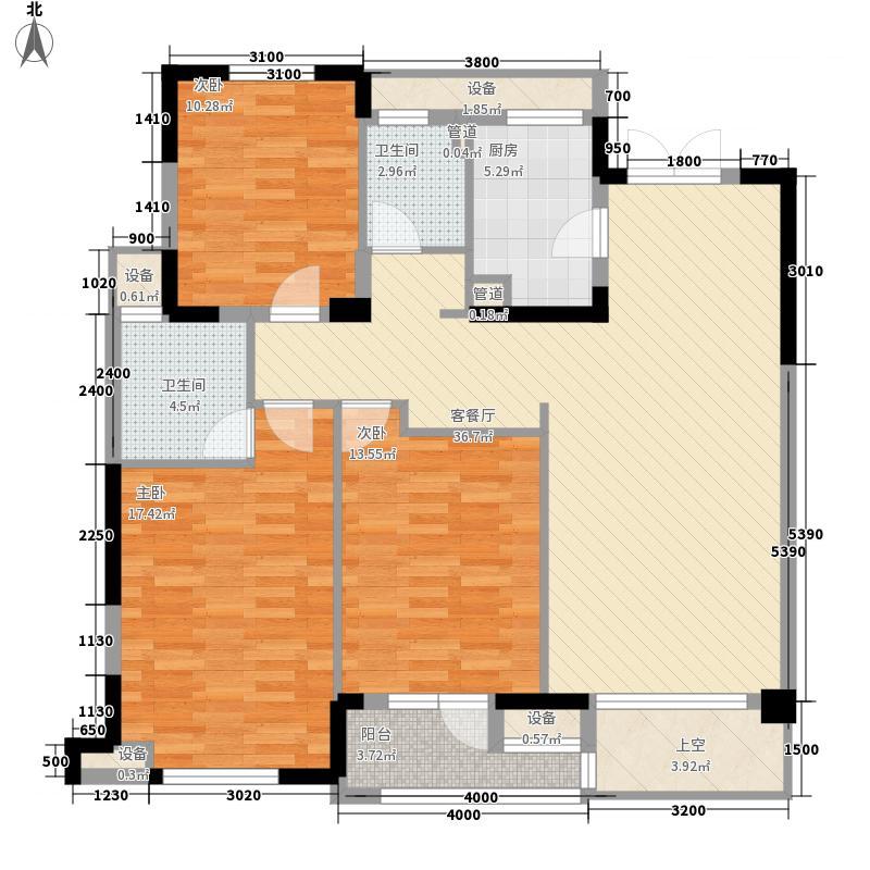 赞成檀府赞成檀府户型图C6偶数层(130方)户型10室