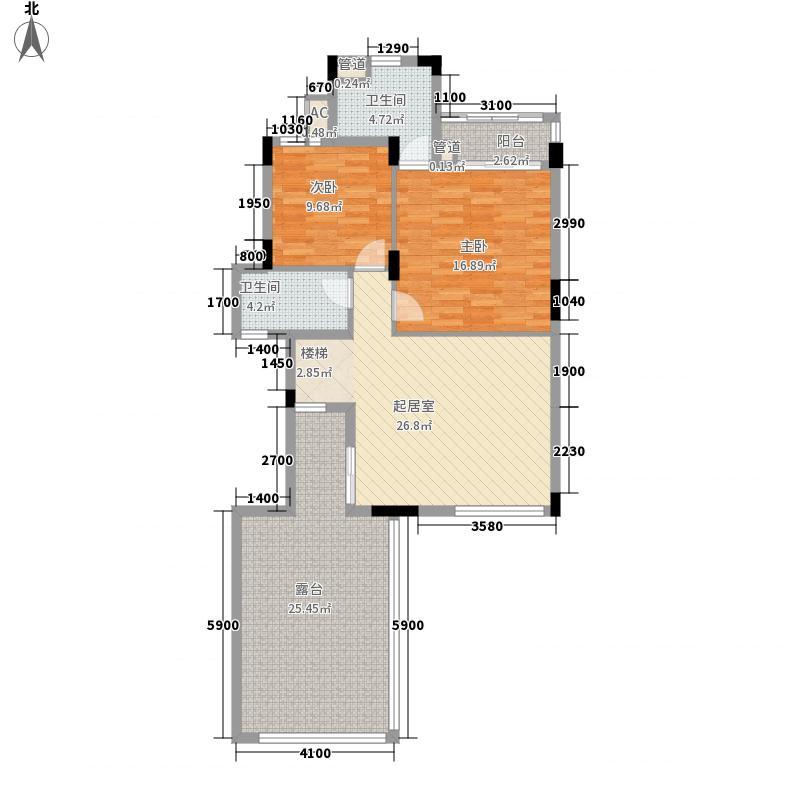 保利林语别墅D3-b复式上层户型