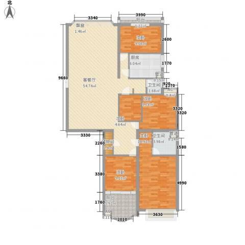 鑫宇翠庭5室1厅2卫1厨181.00㎡户型图