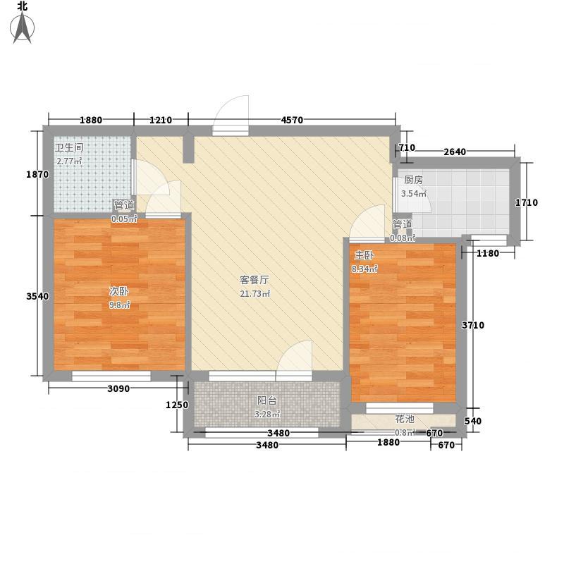 远洋时代城78.00㎡远洋时代城户型图城果B1户型2室2厅1卫1厨户型2室2厅1卫1厨