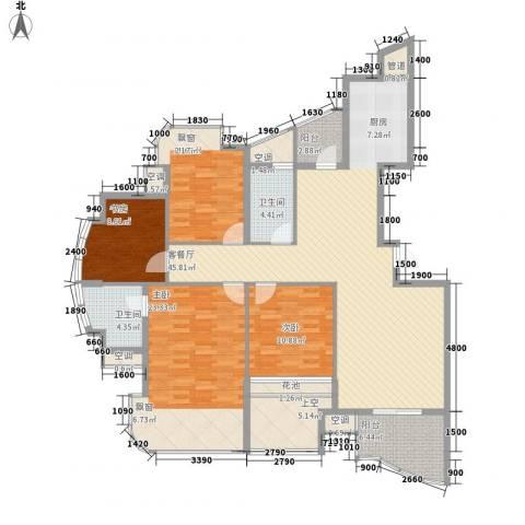 金世纪铭城豪庭4室1厅2卫0厨128.90㎡户型图