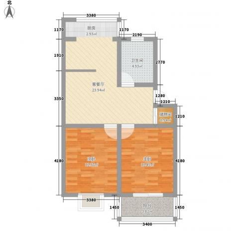 大唐五星公寓2室1厅1卫0厨85.00㎡户型图