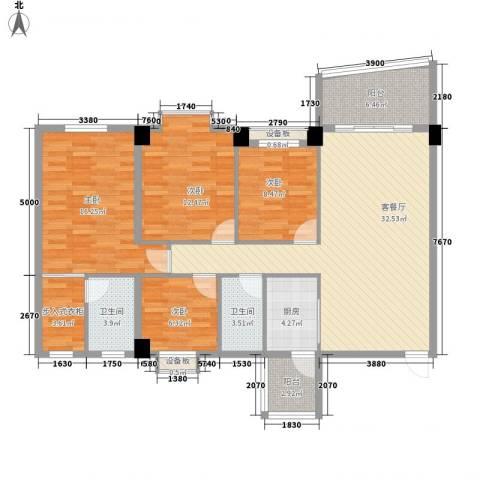 锦绣华庭4室1厅2卫1厨145.00㎡户型图