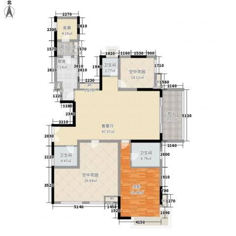 招商花园城1室1厅3卫1厨149.05㎡户型图