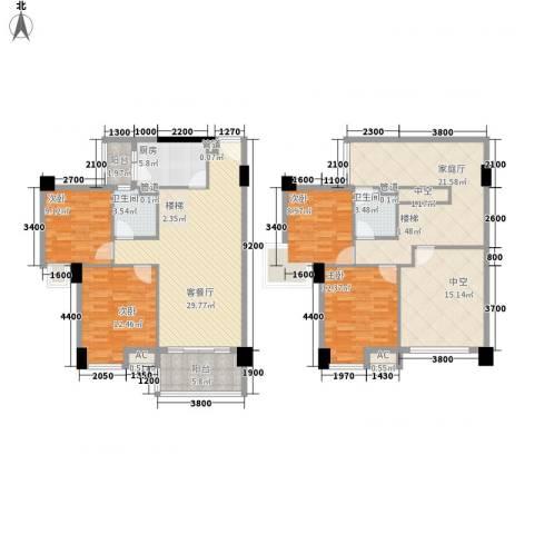 怡丰翠云轩4室1厅2卫1厨138.00㎡户型图