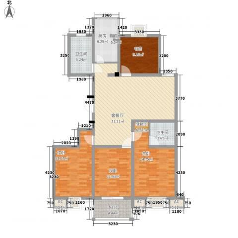 盛世华城4室1厅2卫1厨148.00㎡户型图