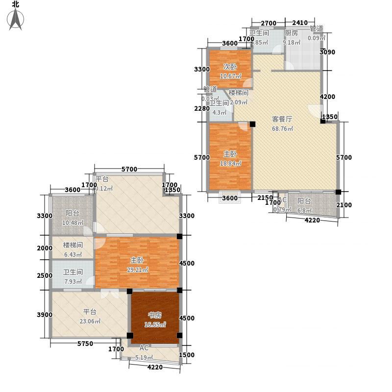 基业豪庭228.64㎡9#A1型单元平层户型4室2厅3卫1厨
