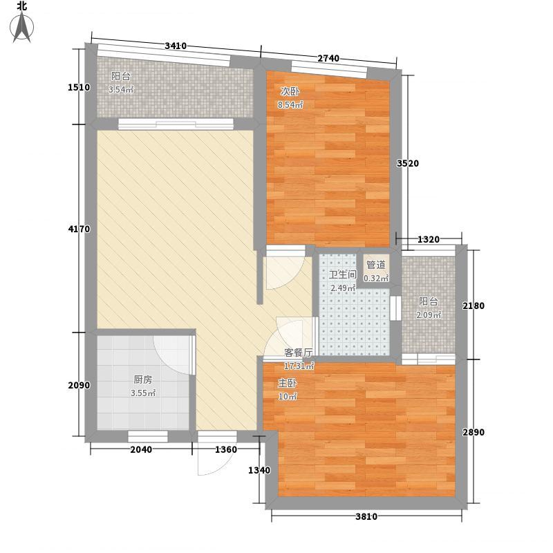汇展香格里拉70.56㎡汇展香格里拉户型图A-G2已售完户型10室