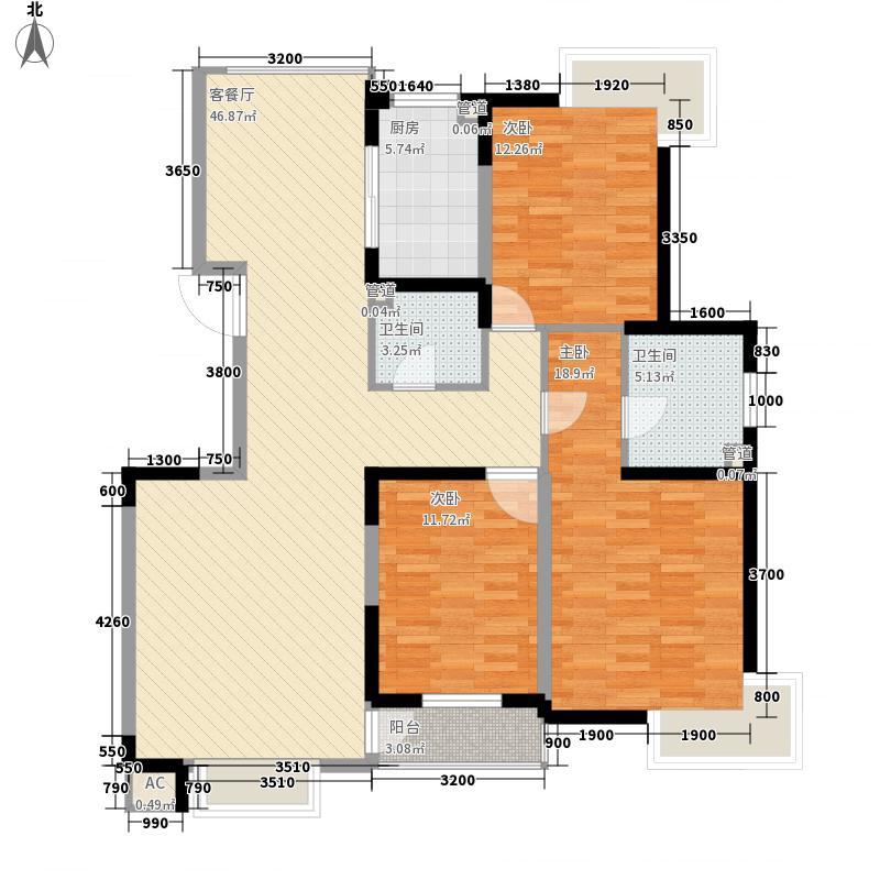 安宁庭院147.25㎡C1户型3室2厅2卫1厨