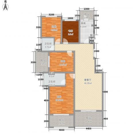 林隐天下4室1厅2卫1厨131.54㎡户型图