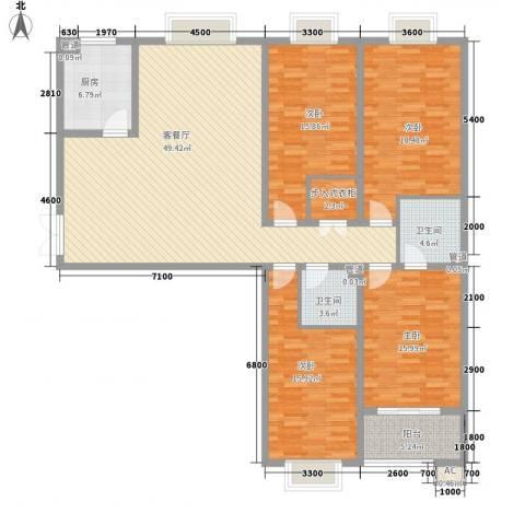互助路1号4室1厅2卫1厨189.00㎡户型图
