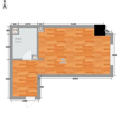 金宇・新天地1室0厅1卫0厨59.00㎡户型图