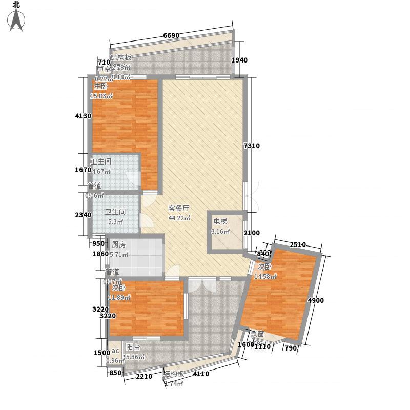 天骄豪园145.77㎡天骄豪园户型图3室1厅2卫1厨户型10室