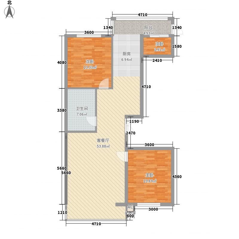 冬奥村二室户型2室2厅1卫1厨