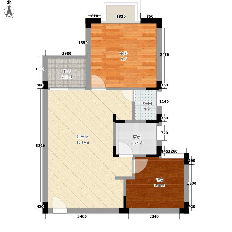旭飞华达园57.64㎡旭飞华达园(C4)2室户型2室