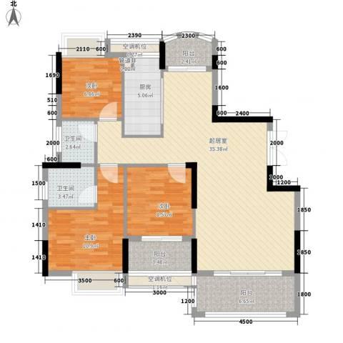 联泰香域滨江桥郡3室0厅2卫1厨112.00㎡户型图