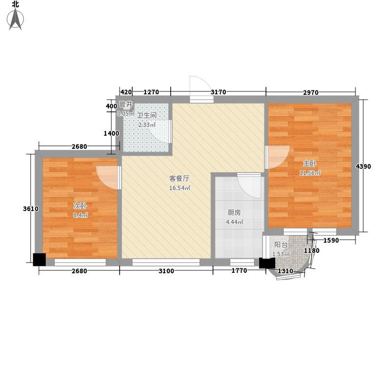 泉水新城奥林园三期64.20㎡泉水新城奥林园三期户型图户型22室1厅1卫1厨户型2室1厅1卫1厨