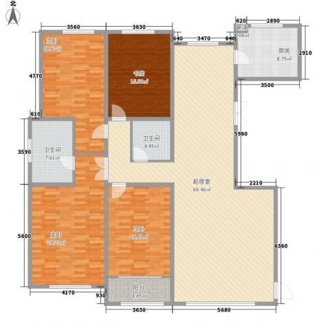 天鹅湖小镇东区4室0厅2卫1厨227.00㎡户型图