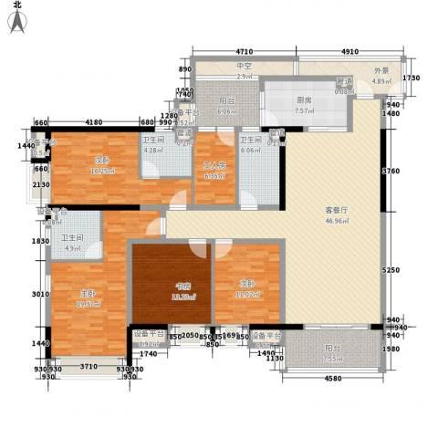 龙泉华苑4室1厅3卫1厨205.00㎡户型图