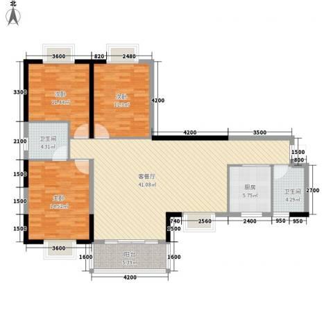 怡和园3室1厅2卫1厨139.00㎡户型图
