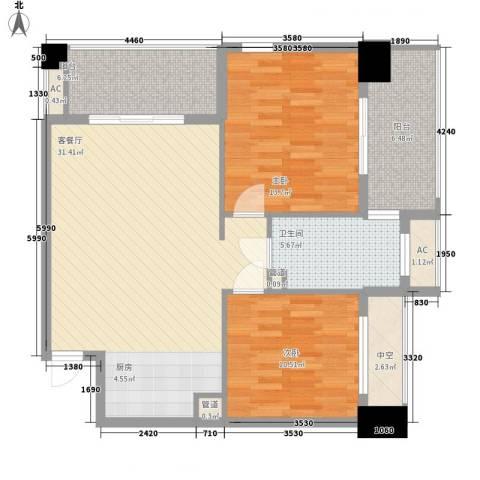 三亚湾红树林度假世界2室1厅1卫0厨161.00㎡户型图