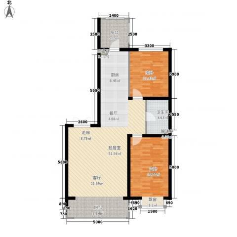 松浦观江国际2室0厅1卫0厨88.70㎡户型图