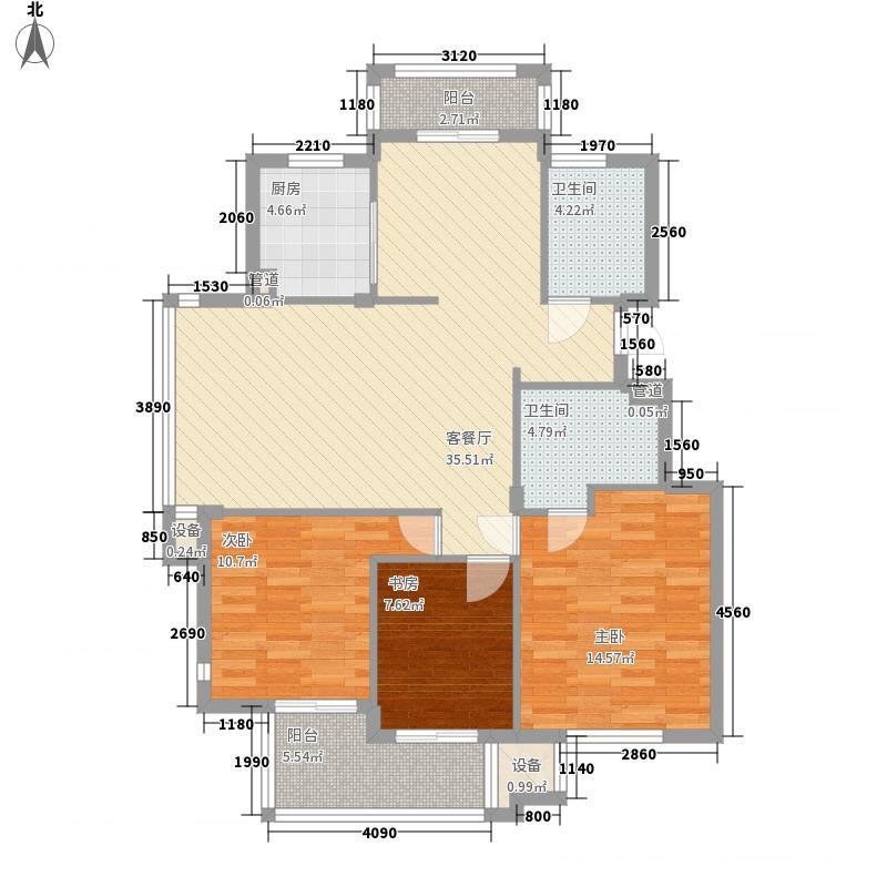 华润翠庭130.00㎡华润翠庭户型图B02/03户型3室2厅2卫1厨户型3室2厅2卫1厨