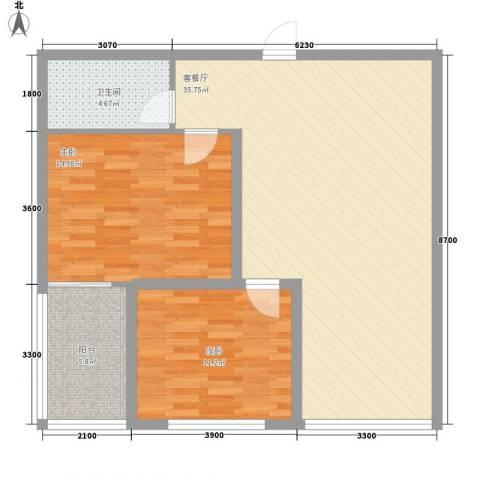 西港雅苑2室1厅1卫0厨96.00㎡户型图
